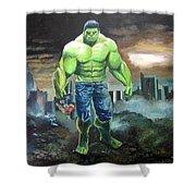 Hulk. Original Acrylic Shower Curtain