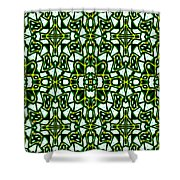 Human Angels Abstract Shower Curtain
