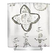 Human Embryo Development, 1685 Shower Curtain