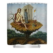 Humanity's Platform Shower Curtain