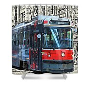 Humber Bound Streetcar On Queen Street Shower Curtain