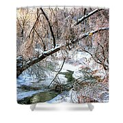 Humber River Winter 3 Shower Curtain
