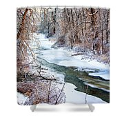 Humber River Winter Shower Curtain