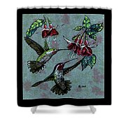 Hummers And Fuchsia Shower Curtain
