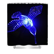 Humming Bird Light Shower Curtain