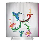 Humming Holiday Shower Curtain