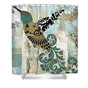 Hummingbird Batik Shower Curtain