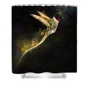 Hummingbird Hotty Totty Style Shower Curtain