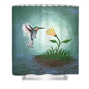 Hummingbird II Shower Curtain