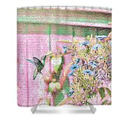 Hummingbird In The Garden Shower Curtain