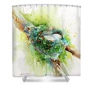 Hummingbird Nest Shower Curtain