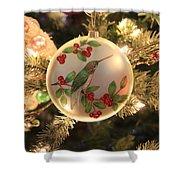 Hummingbird Ornament Shower Curtain