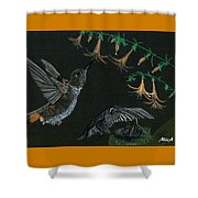 Hummingbird Parents Shower Curtain