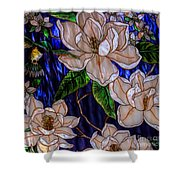 Hummingbird Stained Glass Shower Curtain