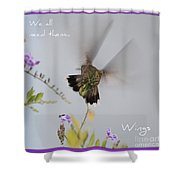 Hummingbird Wings Shower Curtain