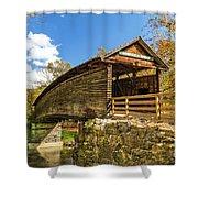 Humpback Covered Bridge In Autumn Colors Shower Curtain