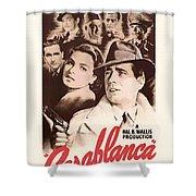 Humphrey Bogard And Ingrid Bergman In Casablanca 1942 Shower Curtain