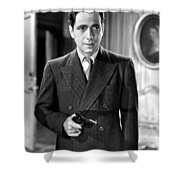 Humphrey Bogart As As Gangster Gloves Donahue All Through The Night 1941 Shower Curtain