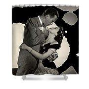 Humphrey Bogart Ava Gardner The Barefoot Contessa Collage 1954-2016 Shower Curtain
