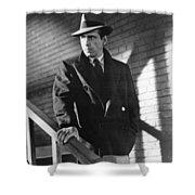Humphrey Bogart Stairs The Maltese Facon 1941  Shower Curtain