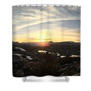 Humphreys Basin Sunset Shower Curtain