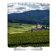 Hunawihr In The Vineyards Shower Curtain