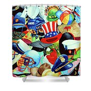Hundreds Of Hats Shower Curtain by Hanne Lore Koehler