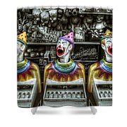 Hungry Clowns Shower Curtain
