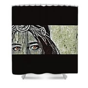 Hungry Eyes Shower Curtain