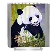 Hungry Panda Shower Curtain