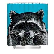 Hungry Raccoon Shower Curtain