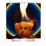 Hunk Of Burning Love Shower Curtain