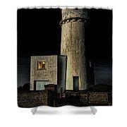 Hunstanton Lighthouse At Night Shower Curtain