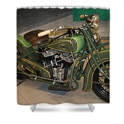 Hunter Green Indian Motorcycle...   # Shower Curtain