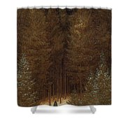 Hunter In The Forest  Shower Curtain