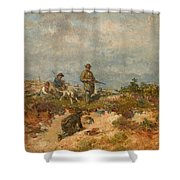 Hunters By A Fox-hole Shower Curtain