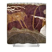 Hunting, 12th Century Shower Curtain
