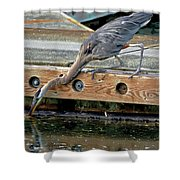 Hunting Heron Shower Curtain