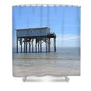 Hunting Island Beach House Shower Curtain