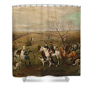 Hunting Party With Tsar Alexander IIi. And Zarina Maria Fedorovna Shower Curtain