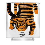 Hunting Tiger Shower Curtain