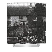 Hunting With Hounds Shower Curtain