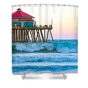 Huntington Pier Shower Curtain