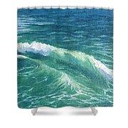 Huntington Small Waves  Shower Curtain