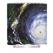 Hurricane Floyd Shower Curtain