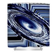 Hurricane In Space Abstract Shower Curtain