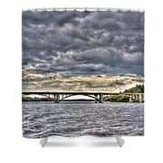 Hurricane Irene On Tillery Shower Curtain