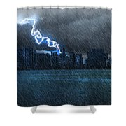 Hurricane Irma Florida  Shower Curtain