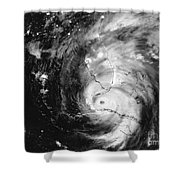 Hurricane Irma Infrared Shower Curtain