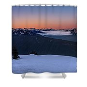 Hurricane Ridge At Sunrise In Olympic National Park Washington Shower Curtain